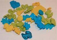 Пуговицы цветные в ассортименте BB112