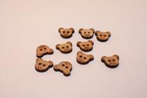 Пуговицы мишки из дерева BB1123