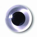 Глаза стеклянные прозрачные глянцевые с плоской петлей EG34