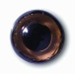 Глаза стеклянные коричневые глянцевые с плоской петлей EG36