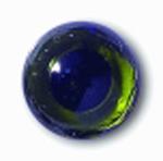 Глаза стеклянные зеленые глянцевые с плоской петлей EG35