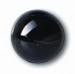 Глаза стеклянные черные глянцевые с круглой петлей EG01