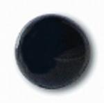 Глаза стеклянные черные матовые с плоской петлей EM02