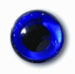Глаза стеклянные синие глянцевые с плоской петлей EG33