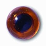 Глаза стеклянные медовые глянцевые с плоской петлей EG31