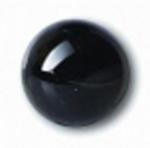 Глаза стеклянные черные глянцевые с плоской петлей EG02