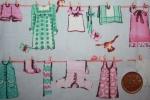 Ткань японская с мелким рисунком TJ6255